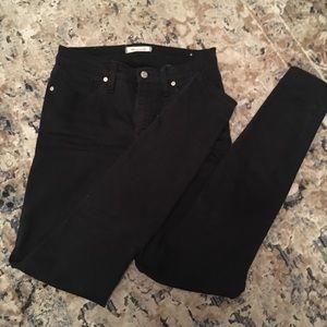 """Madewell 9"""" hi-Rise black skinny jeans"""